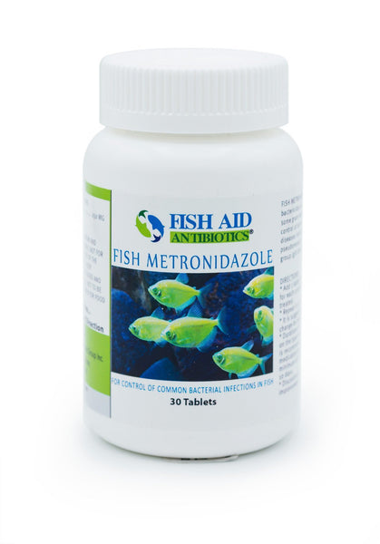 Fish Aid Metronidazole (Metronidazole) 250mg - 30 Count - FishPharm.com