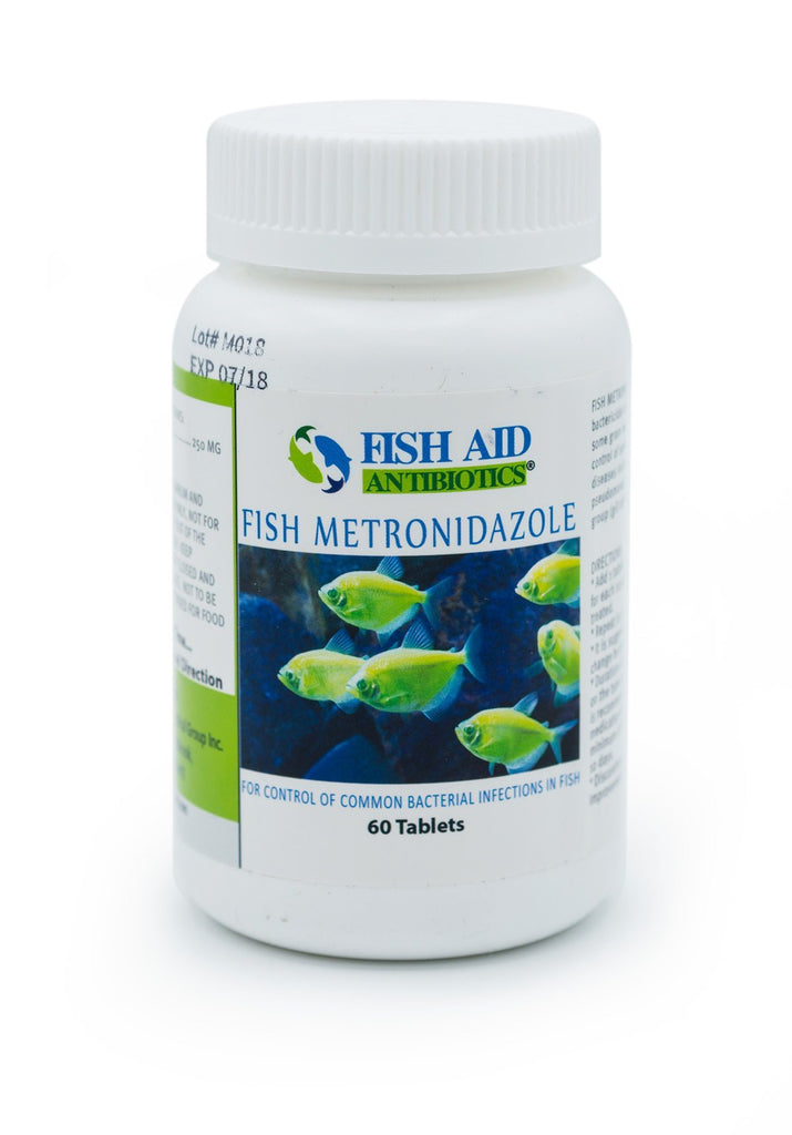 Fish Aid Metronidazole (Metronidazole) 250mg - 60 Count - FishPharm.com