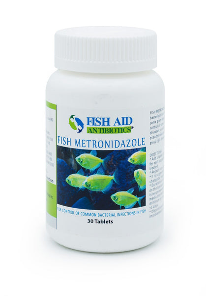 Fish Aid Metronidazole (Metronidazole) 500mg - 30 Count - FishPharm.com
