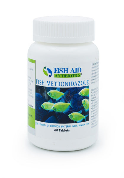 Fish Aid Metronidazole (Metronidazole) 500mg - 60 Count - FishPharm.com