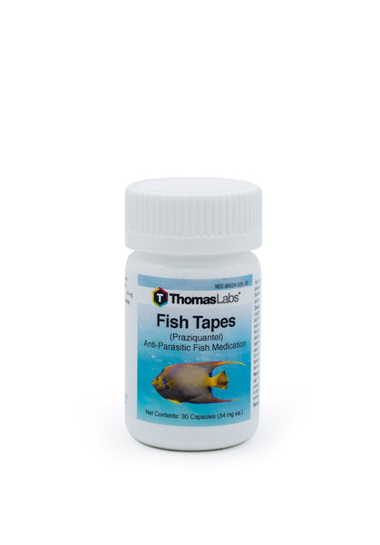 Fish Tapes (Praziquantel) 34mg - 30 Count - FishPharm.com