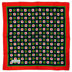 "Yves Saint Laurent Boldly Graphic cotton scarf ""olives"" 1970s"
