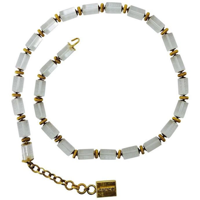 Givenchy Lucite & Gold Metal Necklace or Belt 1970s