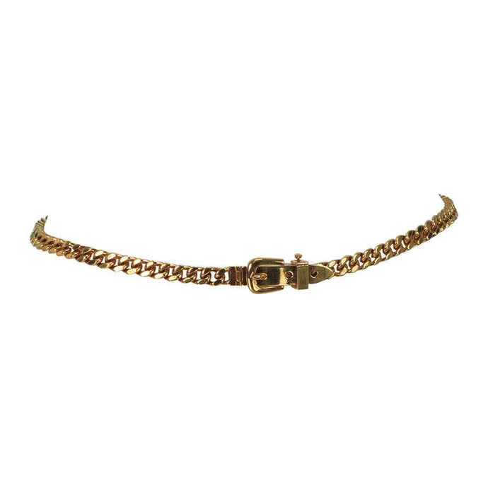 Gucci chunky gold chain link belt