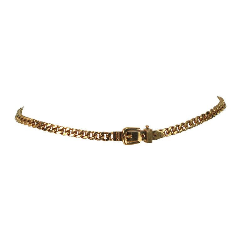 SOLD Gucci chunky gold chain link belt