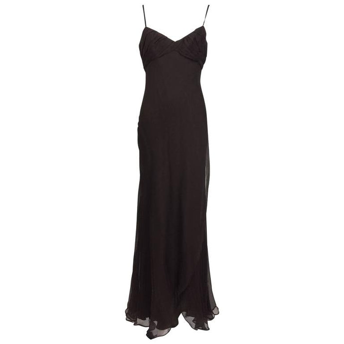 Helen David English Eccentrics silk velvet bias cut gown