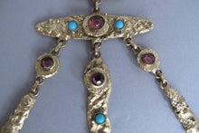 SOLD Henry Perichon gilded metal handmade one of a kind necklace made in France 1960s