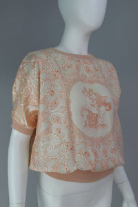 Hermes silk scarf sweater blouse
