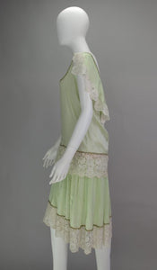 Silk & lace 1920s afternoon dress