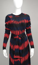 Roberta di Camerino 1977 optical print dress