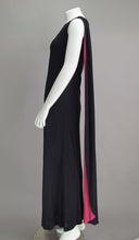 SOLD Adele Simpson Silk Jersey One Shoulder Draped Cape Gown 1960s