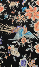 Hand embroidered Canton silk shawl 1920s