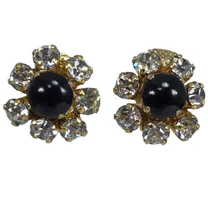 Vintage Christian Dior Germany Jewel Mini Clip Earrings 1965