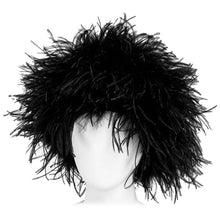Vintage Black Marabou Feather Hat 1960s