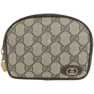 Gucci small leather and monogram vinyl cosmetic bag