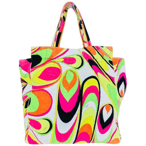 SOLD Pucci velvet terry beach tote and matching beach towel