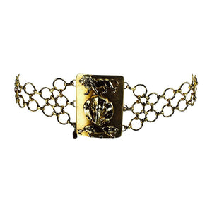 Christian Dior Jungle Safari Chain Belt 1970s