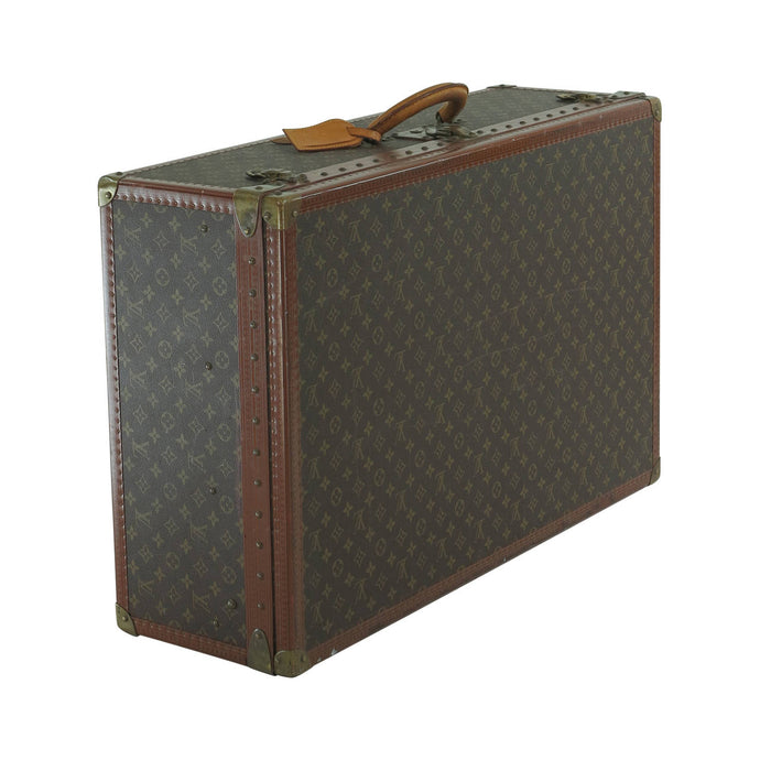 Louis Vuitton Alzar 80 monogram hardside suitcase/trunk