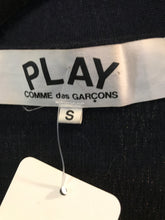 SOLD Comme des Garcons Play Dark Navy Blue Cardigan Sweater with Heart