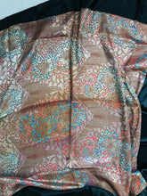 1920s Art Deco Metallic Brocade Square Shawl Vintage