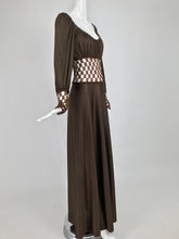 Loris Azzaro Couture Metal Chain and Silky Jersey Maxi Dress  1970s