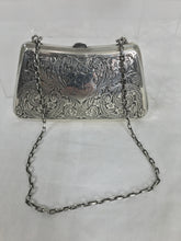 Victorian Sterling Silver Foliate Motif Purse with Chain Handle Dance Cards