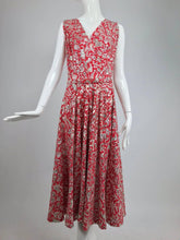 Silver sequin coral printed dress and jacket Jor'elle Model Mexico 1950s