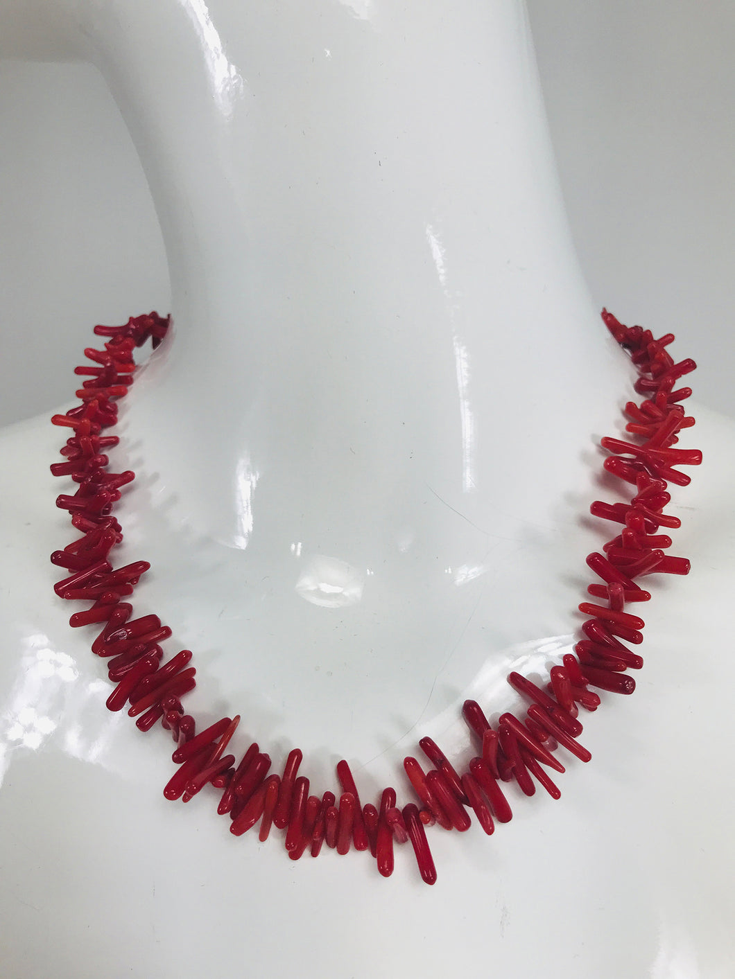 Red Branch Coral Choker Necklace
