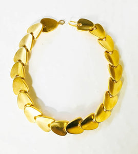 Robert Lee Morris gold plated articulated modernist necklace
