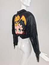 Maziar Betty Boop cowgirl black fringe leather jacket 1980s