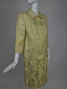 Christian Lacroix 2pc Metallic Brocade Jacket and Skirt 1980s