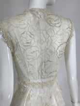 Gregory Parkinson Pieced Applique White Silk and Lace Dress