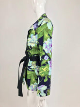 Kenzo Jungle tropical cotton print wrap jacket, 1980s