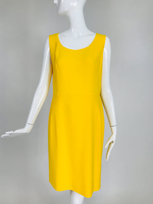 Dolce & Gabbana Yellow Crepe Cady Sheath Dress