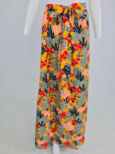 SOLD Yves Saint Laurent tropical print linen maxi skirt, 1980s
