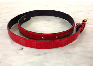 SOLD  Bottega Veneta Candy Apple Red Lizard Belt