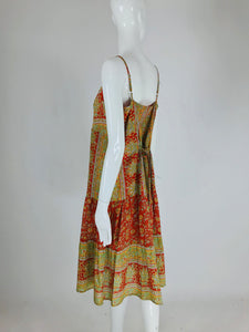 Vintage India Soft  Cotton Print  Sun Dress