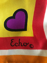 Heart Love Silk Scarf Echo 1960s