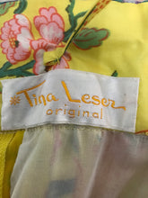 Vintage Tina Leser Original Sequin Citrus Bright Maxi Skirt and Blouse 1960s
