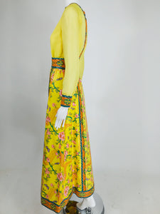 SOLD Vintage Tina Leser Original Sequin Citrus Bright Maxi Skirt and Blouse 1960s