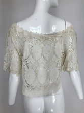 Vintage White Lace Off the Shoulder Button Top 1800/1960s