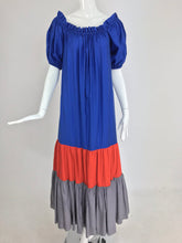 Yves Saint Laurent Rive Gauche colour block maxi dress, 1970s
