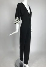 Vintage Clovis Ruffin Ruffinwear Black and White Jumpsuit 1970s