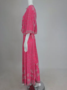 Emilio Pucci silk jersey plunge top and palazzo trouser 1970s