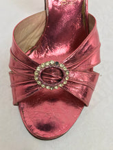 1930s The Balta B. Altman Metallic Pink Leather Shoes 8M Vintage