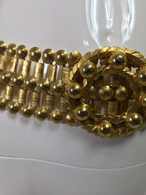 Gold Metal Link Belt with Round Buckle 1980s