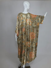 SOLD Vintage Lucie Ann Metallic Gold Brocade Full Length Caftan 1970s