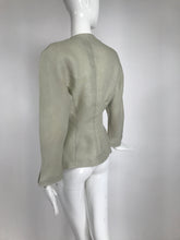 Vintage Thierry Mugler, Paris, Early 1990s Fitted Linen Jacket