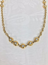 Vintage Chanel Gold Necklace with Double Sided Crystal Rhinestones