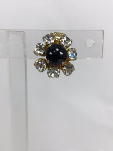 Christian Dior Germany Jewel Mini Clip Earrings 1965